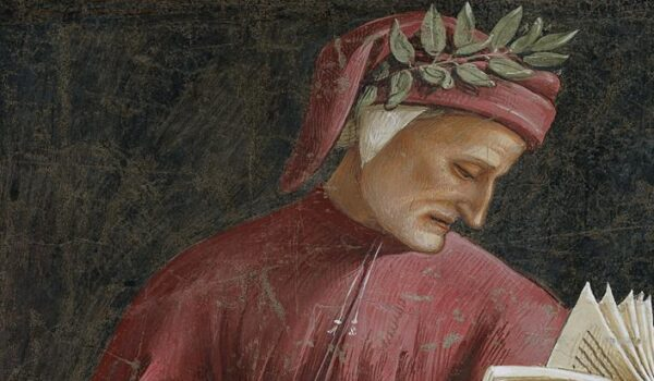 Dante Alighieri detail from Luca Signorelli's fresco in the Chapel of San Brizio Orvieto Cathedral